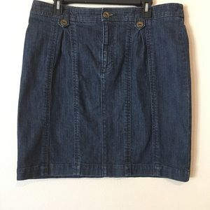 Anthropologie Pilcro Jean Denim Skirt Size 14 16